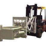 Teleskopické upínače pneumatik pro manipulaci s vysokozdvižným vozíkem