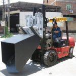 3 tuny Hyundai Diesel vysokozdvižný vozík Kloubový vidlice a kbelík
